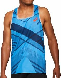 Asics Cooling Mens Running Vest - Blue
