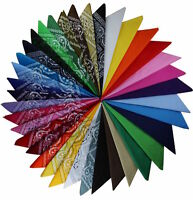 Bandana / Bandanas 100% Baumwolle Paisley Uni Kopftuch Halstuch  1-20 #