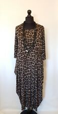 "Lagenlook MADE IN ITALY JERSEY MAXI PARACHUTE DRESS QUIRKY OSFA FITS 12-20 46""b"