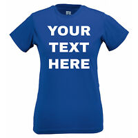 Your Text Here Custom Made Personalised Design Printed T Shirt Work Hen Birthday