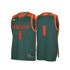 Miami Hurricanes NCAA adidas Men's Replica Basketball Jersey 2xl
