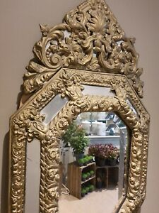Antique French Mirror, Repouse in a Venetian style.