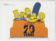 2009 SDCC COMIC CON EXCLUSIVE FOX  THE SIMPSONS HOMER BART LISA PROMO CARD