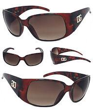 New DG Womens Wrap Sunglasses UV Protect -Tortoise Brown Frame DG23