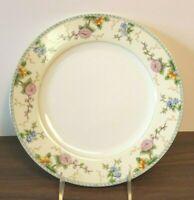 "Noritake Amerita 10"" Dinner Plate Porcelain Gold Trim China Flowers Asian"