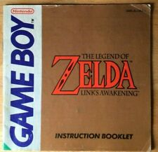 Zelda: Link's Awakening Nintendo Game Boy game manual