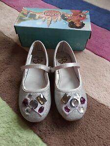 Girl Clarks Ballet Glitter Princess Shoes New Size UK 1