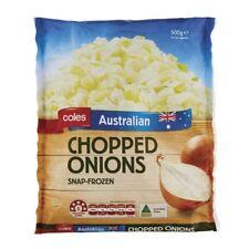 Coles Snap Frozen Chopped onions 500g