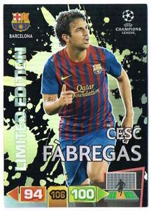 CESC FABREGAS Limited Edition Panini Adrenalyn XL Champions League 2011-12 Card