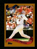 2002 Topps #160 Albert Pujols All Star St Louis Cardinals Baseball Card