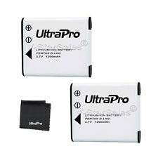 2x D-LI92 DLI92 Battery + BONUS for Pentax Optio I-10 I10 WG-1 WG-2 WG-3 WG-10