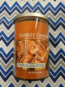 Pumpkin Ginger Bark,22oz.,Double Wick,Yankee Candle,rare and hard to find.