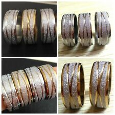 Wholesale 30 X Gold Silver Men Women Band Stainless steel Rings fashion Jewelry