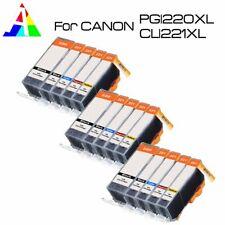 15P New Printer Ink Set (BK PBK C M Y) for PGI-220 CLI-221 MP640 MX860 MX870