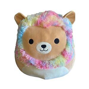 "Squishmallow 24"" Inch Huge Jumbo Plush Leonard the Rainbow Mane Lion Tie Dye"