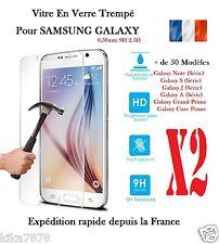 Lot 2  Vitre Film Protection Verre Trempé Samsung Galaxy S5/S6/J5/S7/Grand Prime