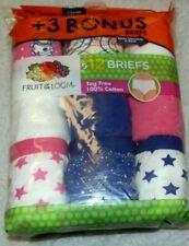 New Girls sz 14 Briefs Underwear Panties 12 Pack Fruit of the Loom Blue Pink