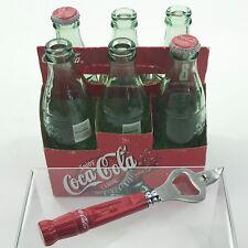 Coca Cola Bottles Vintage Empty Coke Six Pack Soda Holder Green Bottle Opener