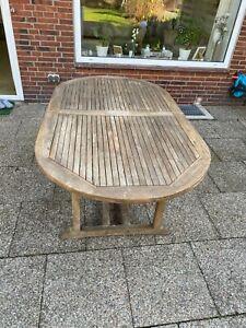 Teakholz Gartentisch ausziehbar