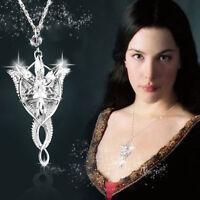 Señor de 1pc de lo anillos Arwen Evenstar collar Zinc aleación regalo plata