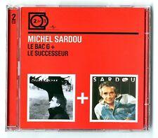 RARE DOUBLE 2 CD ★ MICHEL SARDOU - LE BAC G + LE SUCCESSEUR ★ 2 ALBUMS