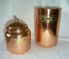 """COPPER JAM CANISTER AND """"TOOLS""""/UTENSIL CANISTER"""