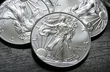 2018 AMERICAN SILVER EAGLE - 1 OZ -  BRILLIANT UNCIRCULATED  -  LOT OF 5