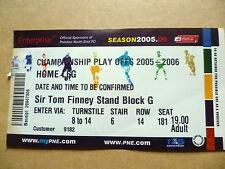 Ticket- Championship PLAY OFFS, 2005-2006, Home Leg