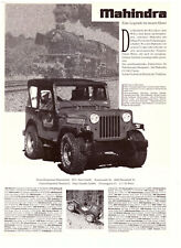 MAHINDRA CL 340 - Classic - JEEP ---  Reklame - alte Annonce -  vintage advert