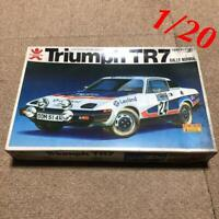 Bandai Triumph TR7 RALLY NORMAL 1/20 Model Kits Vintage F/S #12437