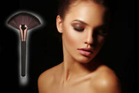 Black and Rose Gold Fan Highlight Brush Face Body Contour Blending Contouring