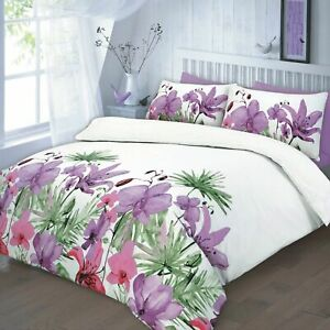 Lily Lilac Single Size Duvet Cover Set With Pillowcase