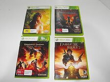 "Narnda-Resident Evil-Dragons Dogme-Fable 3 Bulk Lot ""4 Great Xbox 360 Games"""