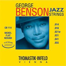 Thomastik George Benson Jazz 14-55 Flatwound Electric Guitar Strings GB114