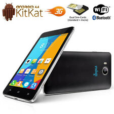 "Indigi 5.0"" Android 4.4 DualSim 3G SmartPhone 2Core Black Unlocked AT&T T-Mobile"