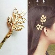 2 X GOLD BRIDAL GReeK LEAF GODESS OLIVE HAIR PINS CLIP love gift beautiful