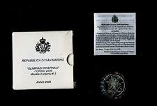 5 euro argento San Marino FDC 2006 «OLIMPIADI INVERNALI -TORINO 2006-»