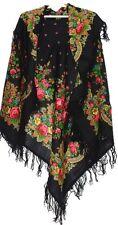 Grand russe laine écharpe #121918 (LAINE FRANGE)