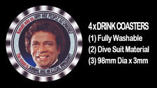 "4  x KAMAHL - THE SINGER - ""WHY ARE PEOPLE SO UNKIND"" - DRINK COASTERS,"