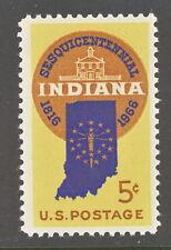 1966 Indiana Statehood 5 cents US Postage Stamp Scott #1308 MINT