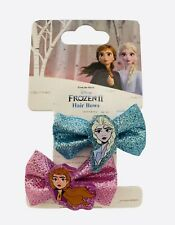 Disney Frozen 2 Pack X3 Hair Accessories Bow Clip Elsa & Anna Icon / Bag Filler