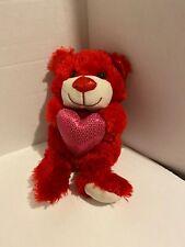 Plush Red Teddy Bear With A Pink Heart Hamerbest Stuffed Animal