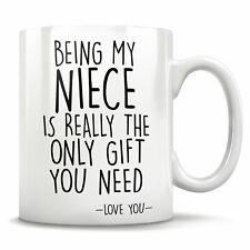 I Love My Niece This Much Coffee Mug Cup Birthday Gift Christmas WSDMUG1243