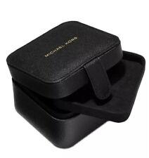 NEW MICHAEL KORS BLACK TRAVEL JEWELRY BOX CASE GREAT GIFT ITEM