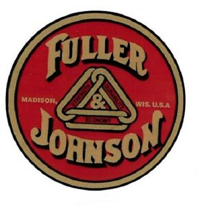 Fuller & Johnson Decal Gas Engine Motor