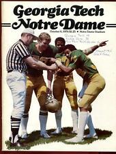 College Football Program Notre Dame 1979 Georgia Tech