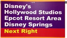 "Walt Disney World Road Sign Inspired Magnet 2"" X 3.5""  Hollywood Studios,"