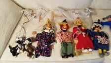 Pelham England Marionetten alt 10 Stück Größen ca 15/25/35 cm