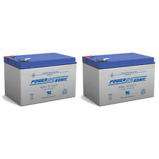 Power-Sonic 2 Pack - 12V 12Ah F2 MuZ Charly Charley Electric Scooter Battery