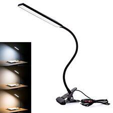 5W Flexible Clip on Light Reading Lamp 310lm 2700~6000K 3 Levels Brightness Lamp